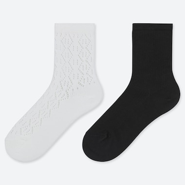 GIRLS LACE REGULAR SOCKS (TWO PAIRS)
