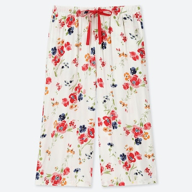 WOMEN RELACO FLORAL PRINT 3/4 LENGTH SHORTS