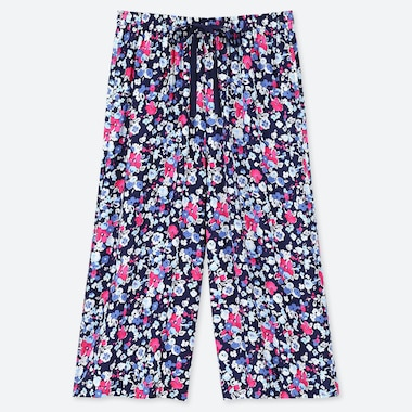 WOMEN RELACO MINI FLORAL PRINT 3/4 LENGTH SHORTS