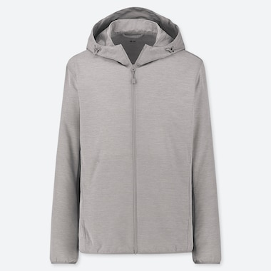 MEN POCKETABLE PARKA, GRAY, medium
