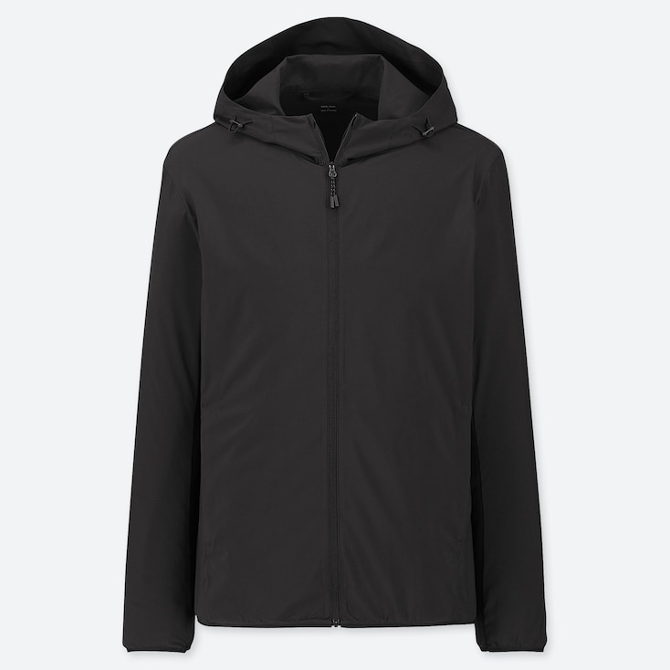 MEN POCKETABLE PARKA, BLACK, large