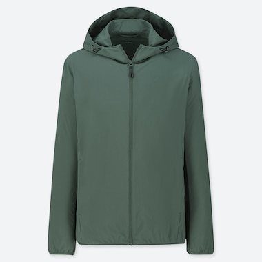 MEN POCKETABLE PARKA, GREEN, medium