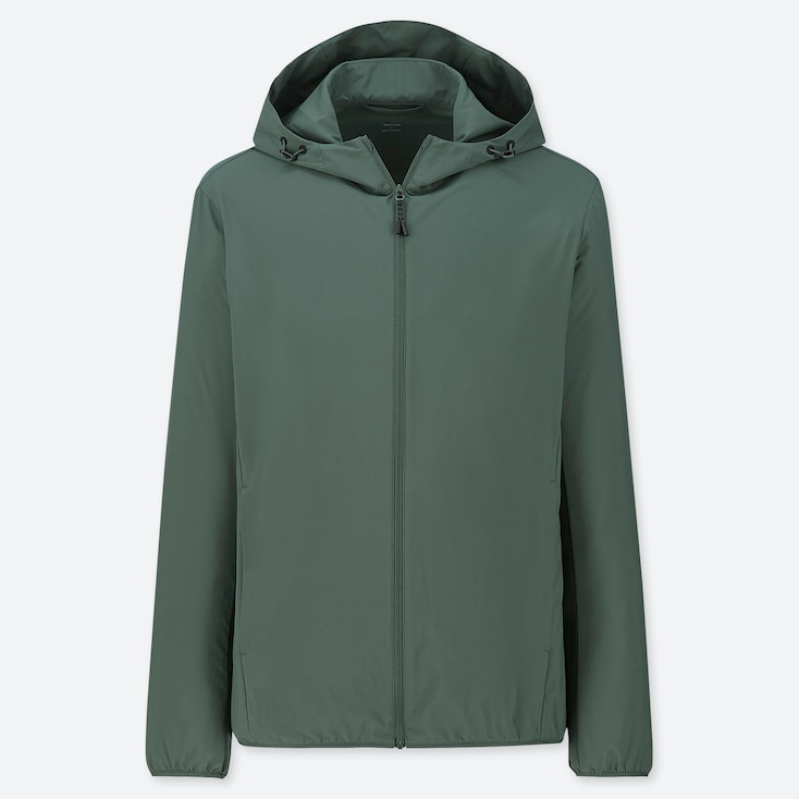 MEN POCKETABLE PARKA, GREEN, large