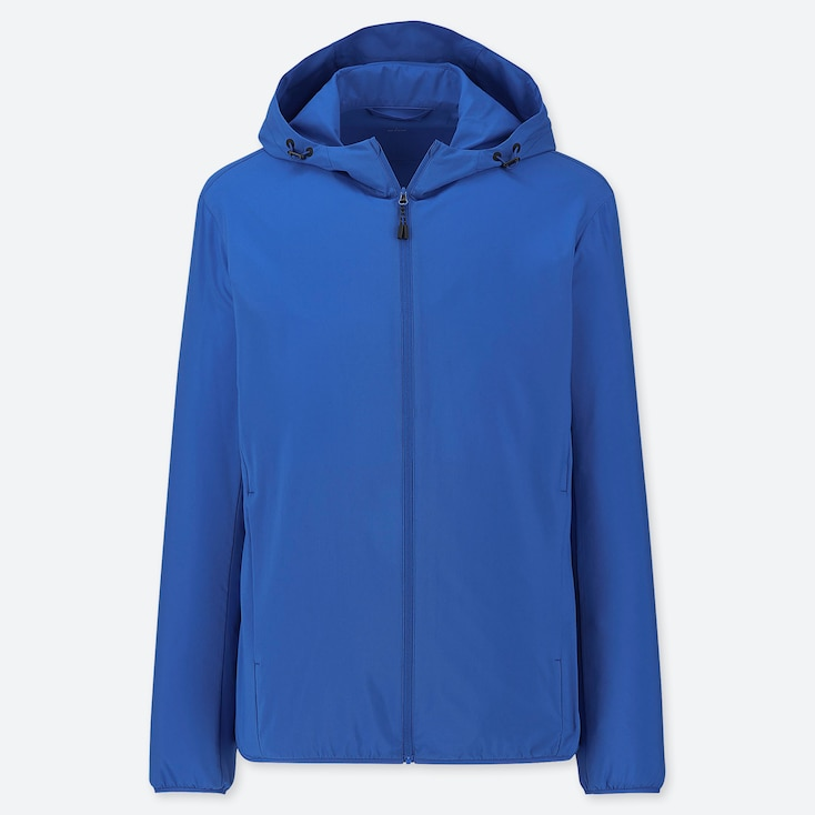 MEN POCKETABLE PARKA, BLUE, large