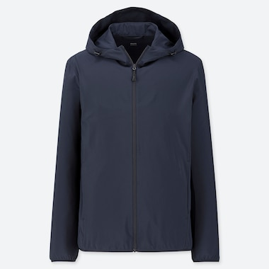 Men Pocketable Parka, Navy, Medium