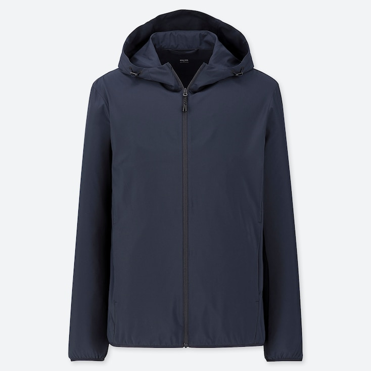MEN POCKETABLE PARKA, NAVY, large