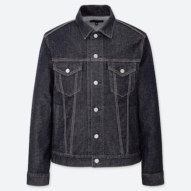 MEN DENIM JACKET, BLUE, medium