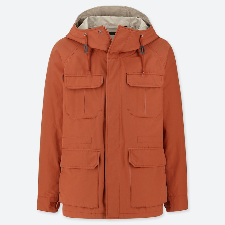 MEN MOUNTAIN PARKA, ORANGE, large