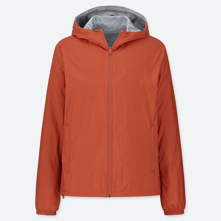 MEN REVERSIBLE PARKA, ORANGE, large