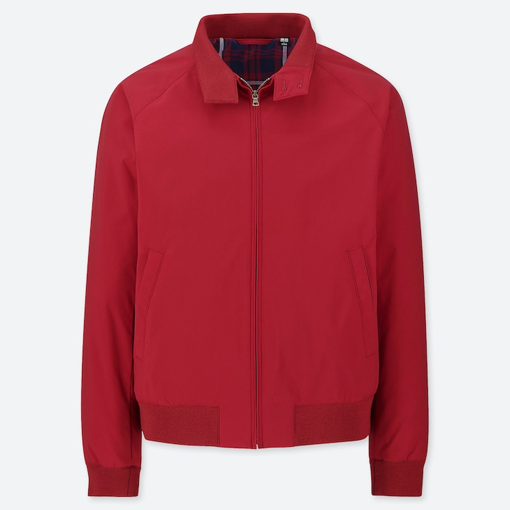 MEN HARRINGTON JACKET, RED, large