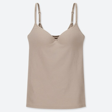 WOMEN RIBBED V NECK BRATOP CAMISOLE