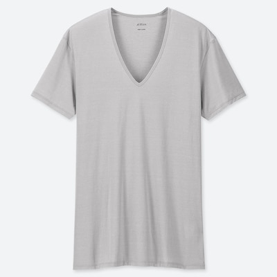 Men Airism V Neck Short Sleeved T Shirt  (1) by Uniqlo