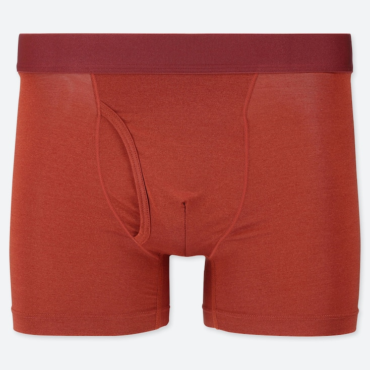 MEN AIRism BOXER BRIEFS, RED, large