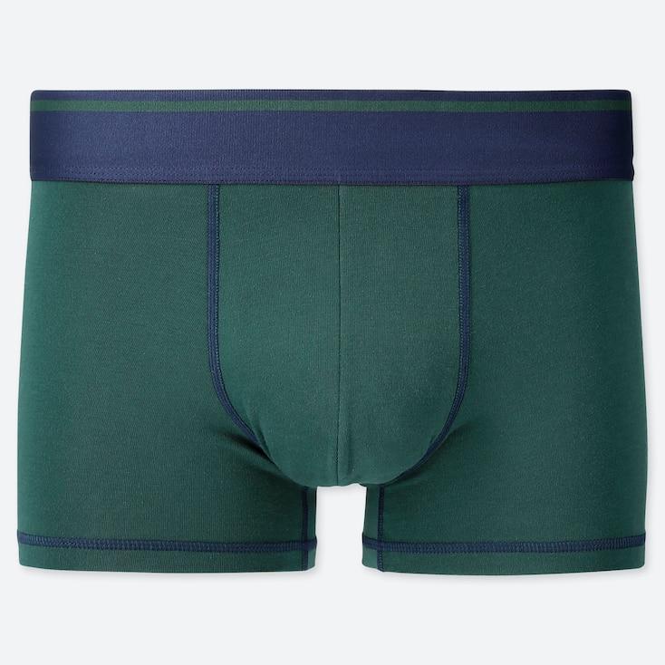 Men Supima® Cotton Low-Rise Boxer Briefs, Dark Green, Large