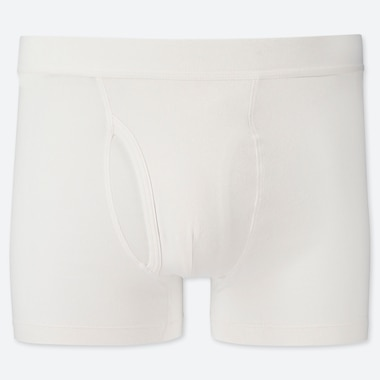Men Supima© Cotton Boxer Briefs, White, Medium