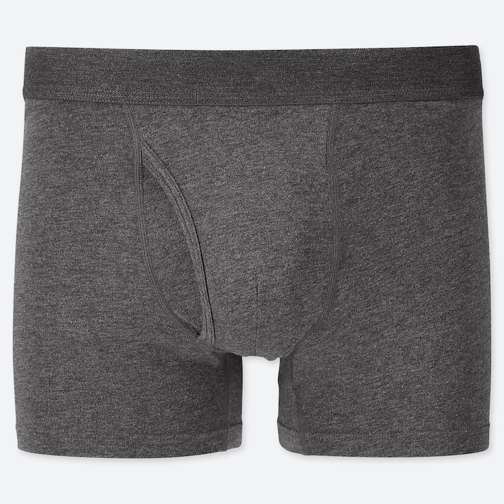 MEN SUPIMA® COTTON BOXER BRIEFS, GRAY, large