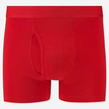 Men Supima© Cotton Boxer Briefs, Red, Medium