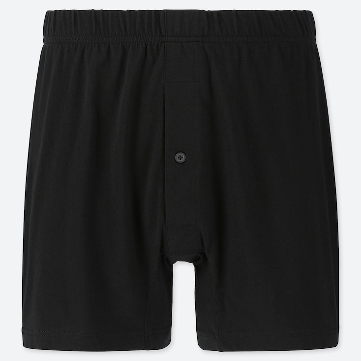 MEN KNIT BOXERS, BLACK, large