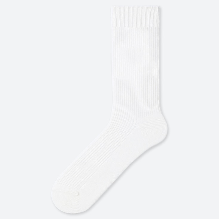 MEN COLOR SOCKS, WHITE, large