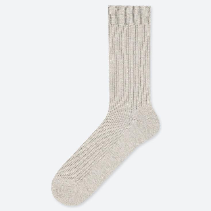 Men Color Socks, Gray, Large