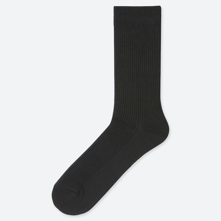 MEN COLOR SOCKS, BLACK, large