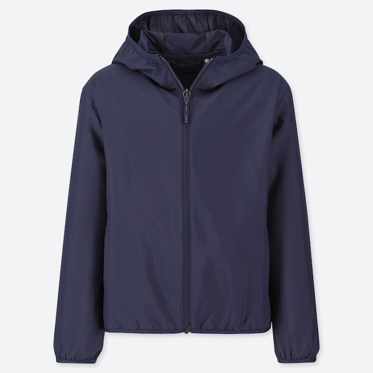 KIDS POCKETABLE PARKA, NAVY, large