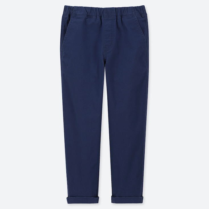 BOYS ULTRA STRETCH RELAXED TAPERED ANKLE PANTS, NAVY, large
