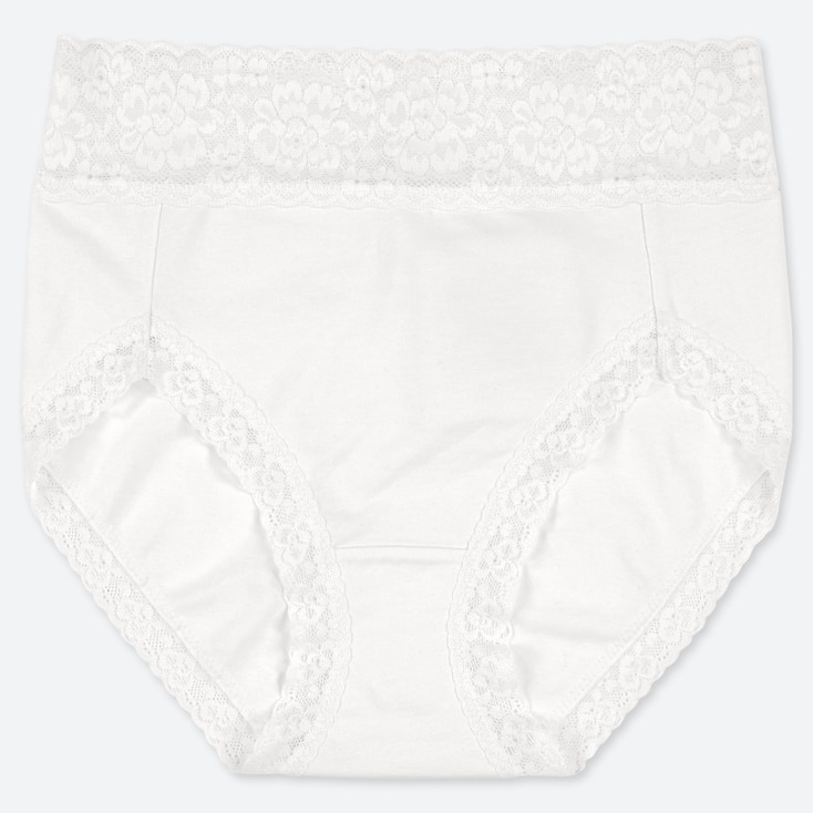 WOMEN HIGH-RISE BRIEFS, WHITE, large