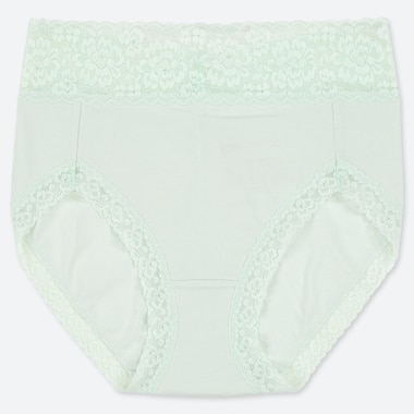 WOMEN HIGH-RISE BRIEFS, LIGHT GREEN, medium