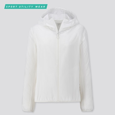 WOMEN POCKETABLE UV CUT PARKA, OFF WHITE, medium
