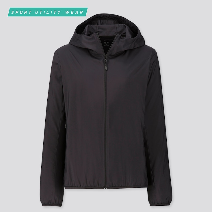 Women Pocketable Uv Cut Parka, Black, Large