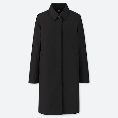 WOMEN BLOCKTECH SOUTIEN COLLAR COAT, BLACK, medium