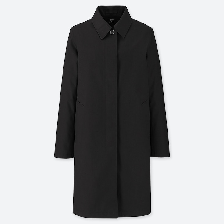 WOMEN BLOCKTECH SOUTIEN COLLAR COAT, BLACK, large