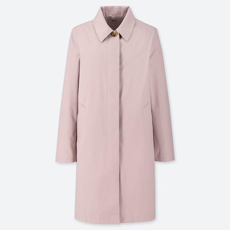 Women Blocktech Soutien Collar Coat, Pink, Large