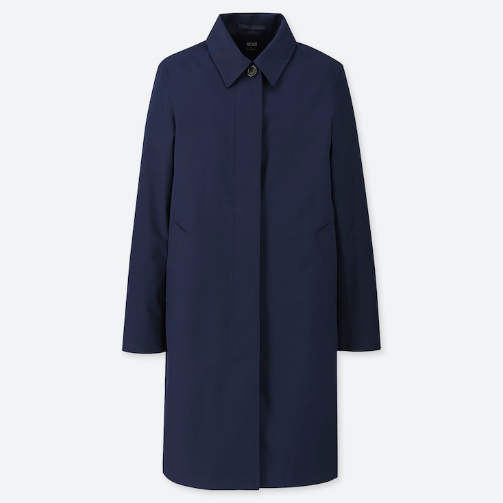WOMEN BLOCKTECH SOUTIEN COLLAR COAT, NAVY, large