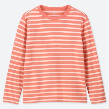 KIDS STRIPED CREW NECK LONG SLEEVED T-SHIRT