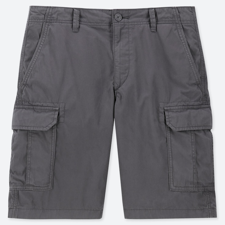 MEN CARGO SHORTS (ONLINE EXCLUSIVE), GRAY, large