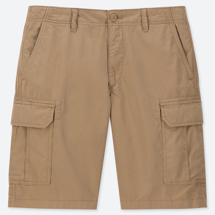 MEN CARGO SHORTS (ONLINE EXCLUSIVE), BEIGE, large