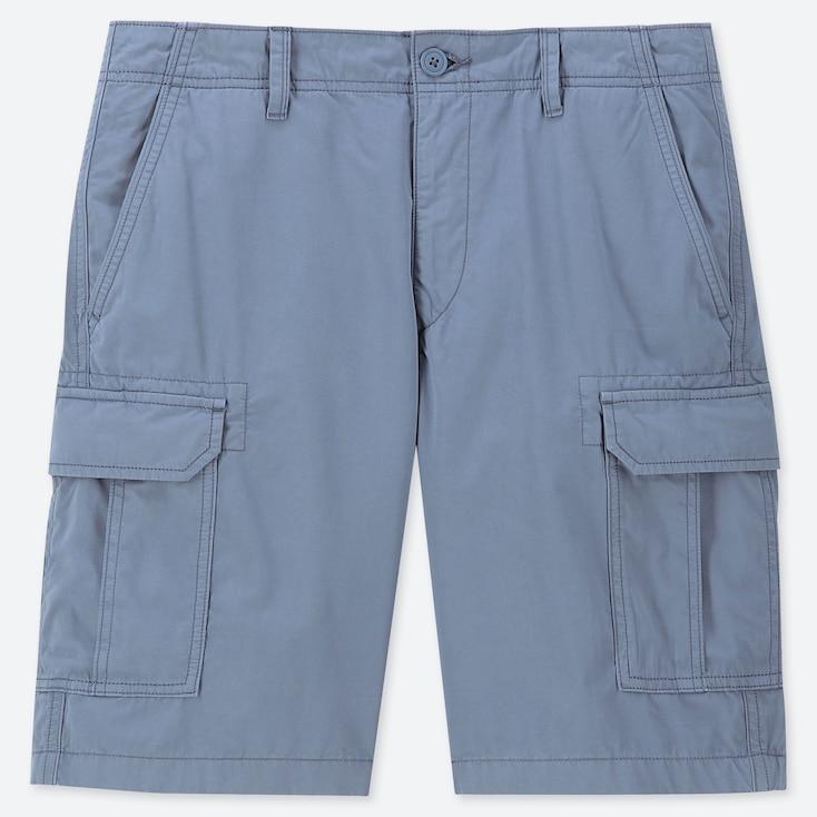 MEN CARGO SHORTS (ONLINE EXCLUSIVE), BLUE, large