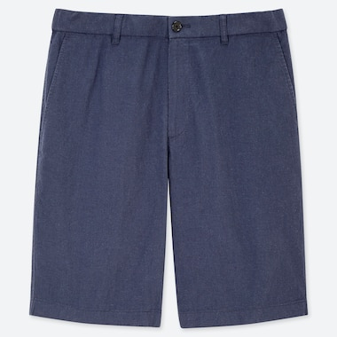MEN LINEN BLEND SHORTS