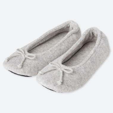 WOMEN FLEECE BALLERINA ROOM SHOES