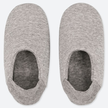 WOMEN FRENCH TERRY SLIPPERS, GRAY, medium