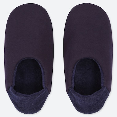 WOMEN FRENCH TERRY SLIPPERS, NAVY, medium