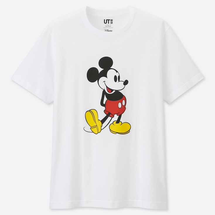 MICKEY STANDS UT (SHORT SLEEVE GRAPHIC T-SHIRT), WHITE, large