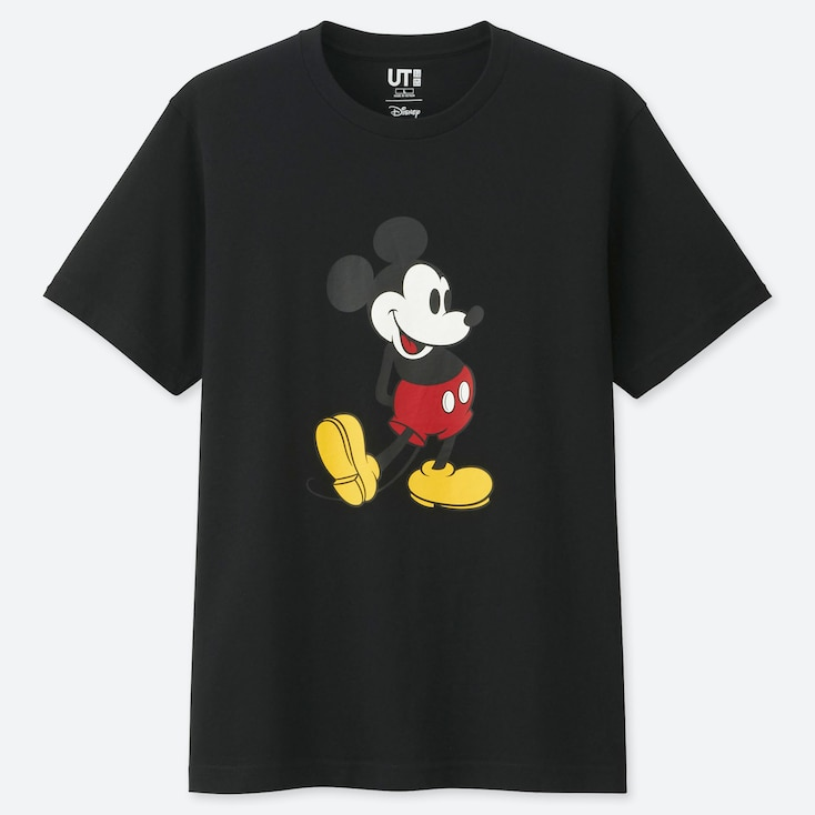 MICKEY STANDS UT (SHORT SLEEVE GRAPHIC T-SHIRT), BLACK, large