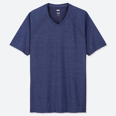 MEN DRY-EX V-NECK SHORT-SLEEVE T-SHIRT (ONLINE EXCLUSIVE), BLUE, medium