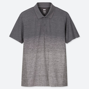 MEN DRY-EX SHORT-SLEEVE POLO SHIRT, DARK GRAY, medium