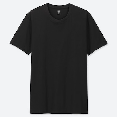Men Supima© Cotton Crewneck Short-Sleeve T-Shirt, Black, Medium