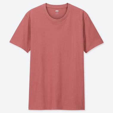 MEN SUPIMA® COTTON CREWNECK SHORT-SLEEVE T-SHIRT, PINK, medium