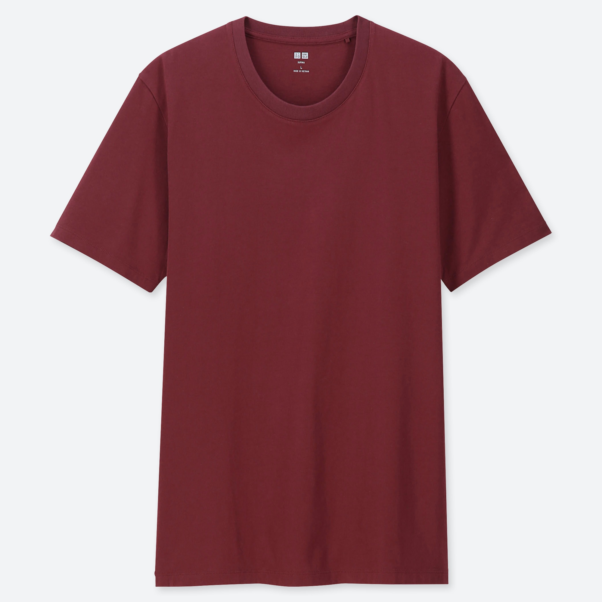 Men Supima® Cotton Crew Neck Short Sleeve T Shirt by Uniqlo